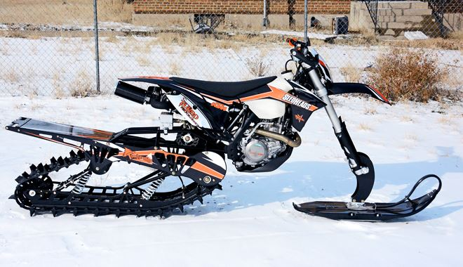 Snowest Snow Bike Project Ktm 500 Turbo Snow Bike World
