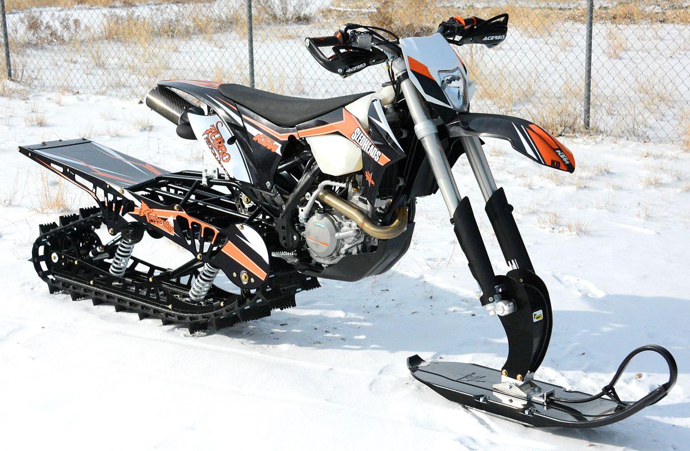 Snowest Snow Bike Project Ktm 500 Turbo Snow Bike World