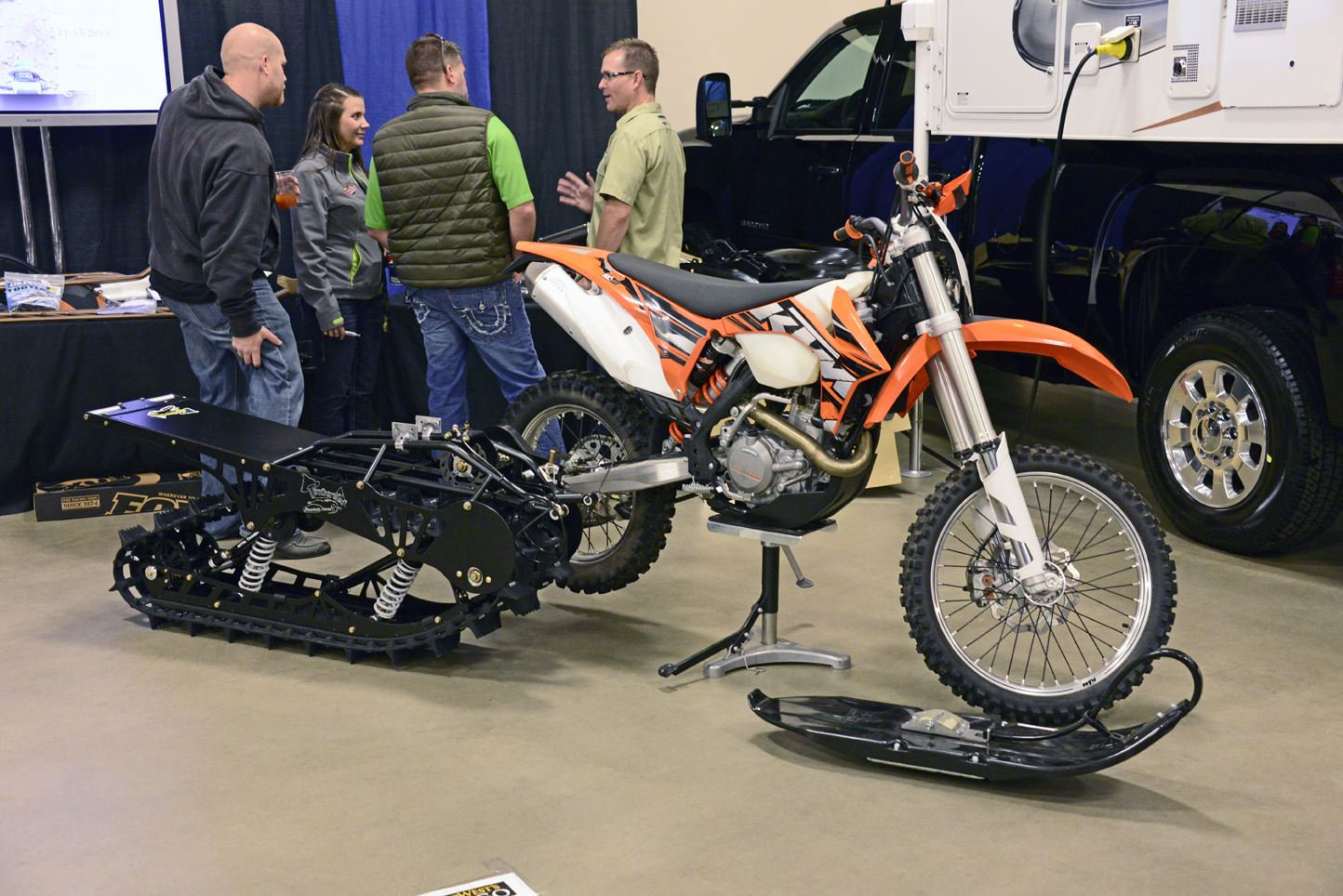 SnoWest Snow Bike Project: KTM 500 Turbo | Snow Bike World